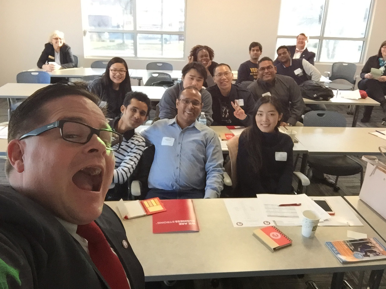 The most recent orientation session for international students at the Washtenaw Campus.